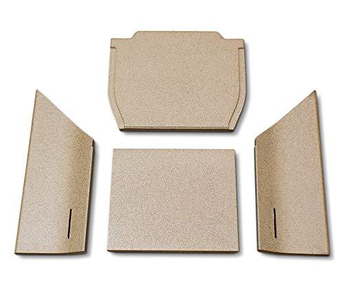 Feuerraumauskleidung für den Contura 35 Kaminofen - Vermiculite - 4-teilig