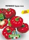 Sementi orticole di qualità l'ortolano in busta termosaldata (160 varietà) (PEPERONE TOPEPO ROSSO)