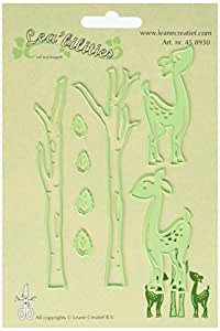 Ecstasy Crafts Lea'bilities Cut and Emboss Dies, .5-Inch to 4.75-Inch, Deer and Trees by Ecstasy Crafts