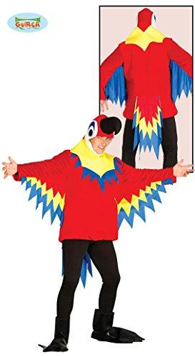 Papageienkostüm bunt Papagei Kostüm Papageikostüm Tier Zoo Kostüm für Damen Herren Erwachsene Gr. M/L, Größe:L (Bunter Vogel Kostüme)