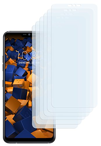 mumbi Schutzfolie kompatibel mit LG G7 ThinQ Folie klar, Bildschirmschutzfolie (6x)