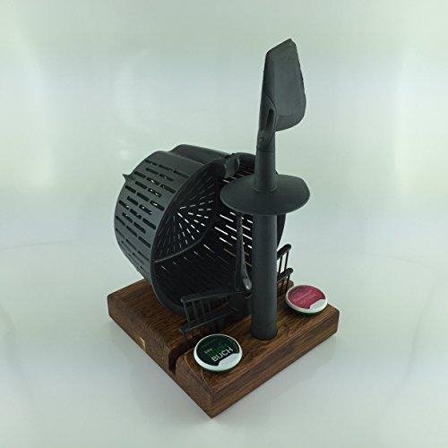 Zubehörhalter für Thermomix Zubehör, Rezept Chip (Eiche Dunkel)