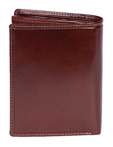 Luxus Echtes Leder Bifold Brieftasche für Herren Bargeld Münzen Tasche, ID Holder, Geschenk Boxed Toronto (Schwarz) Braun