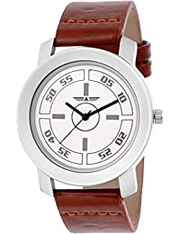 Shree Enterprise Watch With White Dial With Brown Leather Belt | Attractive Look | Fabulous Design | Casual Wear...