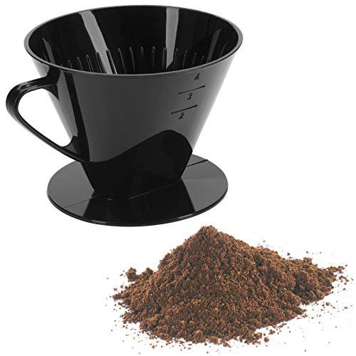 Westmark Kaffeefilter/Filterhalter, Für bis zu 4 Tassen Kaffee, Filtergröße 4, Kunststoff, Four, Schwarz, 24442261 -