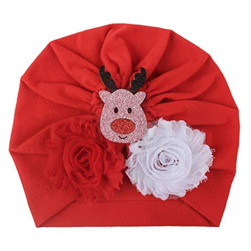 Universität Bow Kissen (LEXUPE Christmas Baby Kids Headwrap Bow Knot Elastic Hat Hatwear Cap Accessories(D,Free Size))