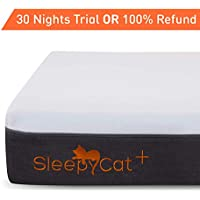 SleepyCat Plus Orthopedic Gel Memory Foam Mattress (78x72x8 inches)