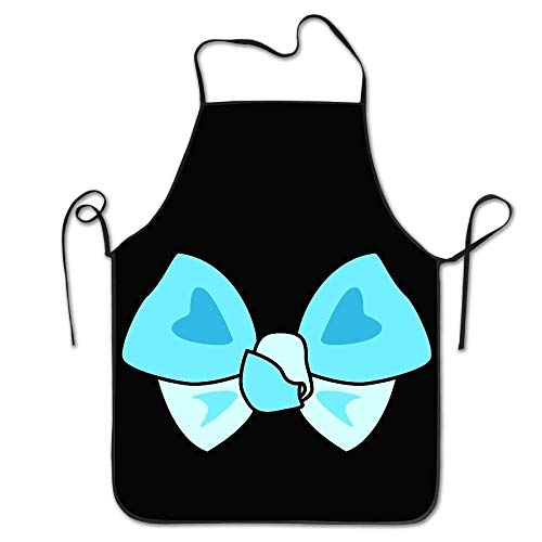 ERCGY 2019 Apron Personalized Aprons Blue Bowknot Bow Tie Lock Edge Unisex Cooking Apron (Ties Bulk Bow Red)