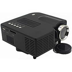 plzlm UC28 + 1080P Full HD Projecteur de cinéma Maison écran VGA/USB/SD/AV/HD Multimedia Projecteur