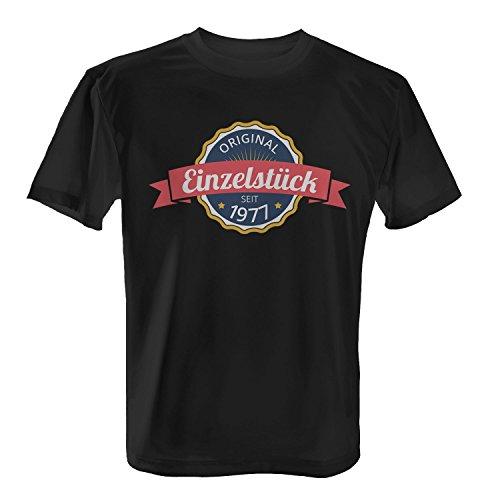 Fashionalarm Herren T-Shirt - Original Einzelstück seit 1977 | Fun Shirt mit coolem Motiv als Geschenk Idee zum 40. Geburtstag Jubiläum Schwarz