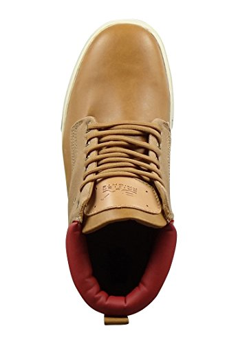 British Knights Wood Herren Hohe Sneakers Cognac Red