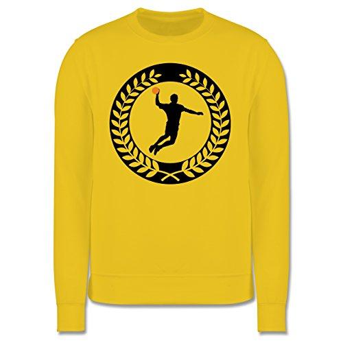 Handball - Handball Sichel Kranz - Herren Premium Pullover Gelb