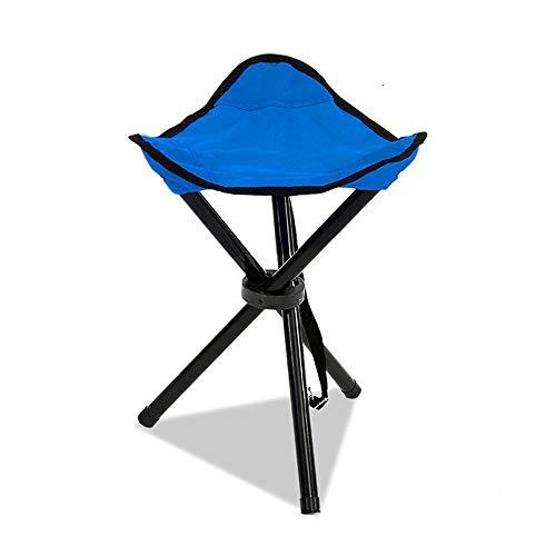 Leg Tragbaren Hocker (Bycws Klappstativ Hocker, tragbare stabile Reise Stuhl Tri-Leg Hocker für Outdoor-Reisen Camping Angeln Wandern Bergsteigen Gartenarbeit)