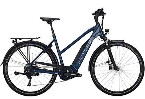 Victoria E-Trekking 10.8 Trapez E-Bike 2020 Pedelec Damen Herren Blau-Matt (L / 53cm)