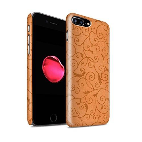 STUFF4 Matte Snap-On Hülle / Case für Apple iPhone 8 Plus / Orange Muster / Vine Blumenmuster Kollektion Orange