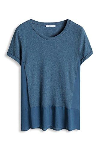 edc by Esprit 076cc1k052, T-Shirt Femme Bleu (DARK BLUE 405)