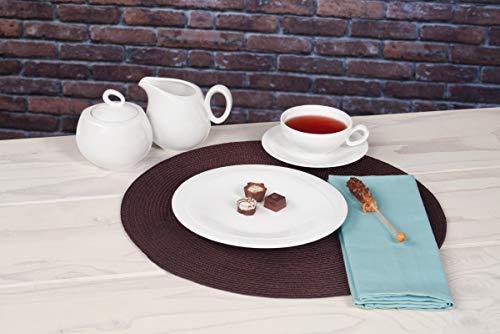 Seltmann Weiden 001.736895 Trio weiß Teeservice 20-teilig,