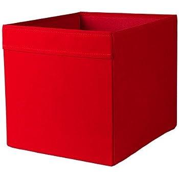 ikea dr na box in wei mit blumenmuster 33x38x33cm passend f r expedit und kallax regale. Black Bedroom Furniture Sets. Home Design Ideas