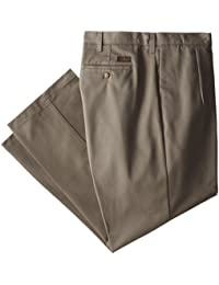 Lee Men's Big-Tall Stain Resistant Relaxed Fit Pleated Pant