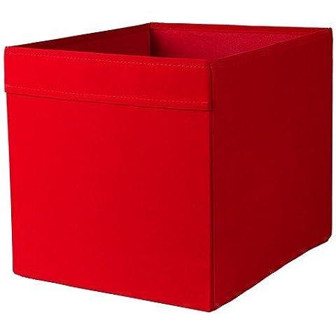 Ikea estante 'Dröna' caja estante (33x 38x 33cm Alto)–Rojo–Apto para las series Expedit, Besta, etc., papel, rojo, 33x38x33cm