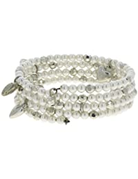 Pearl Like Spring Bracelet Beaded Indian Fashion Jewelry Hearts