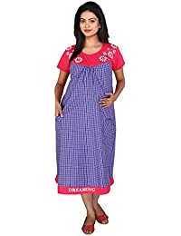 MomToBe Women's Cotton Maternity Dress