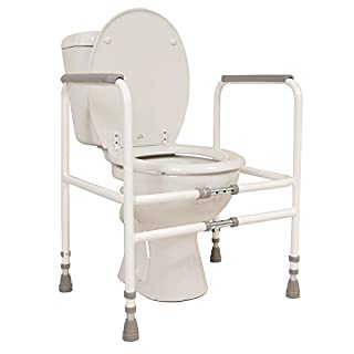 NRS Healthcare M00870 Free Standing Toilet Frame - Width and Height Adjustable (Eligible for VAT Relief in The UK)