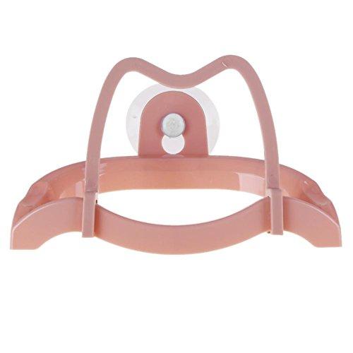 Küche mikolot Abnehmbare Topf Pfanne mit Halterung Sucker Halter Rack-Shelf, rosa