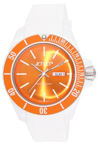 Jet Set – J83491-17 Bubble Watch – Analogue Quartz – White Dial Orange Rubber Bracelet Unisex