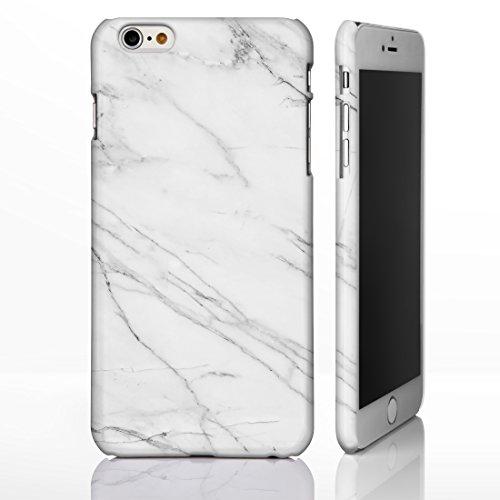 Schutzhülle für verschiedene iPhone Modelle, mit strukturierten Marmor-/ Naturstein-Muster, glänzend Individuelles Design, 14: Pink and Beige Marble, iPhone 6 / 6S - Tough Case 2: Grey Vein in White Marble