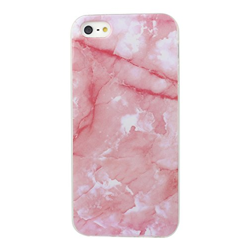 Cover iPhone SE Morbido, Custodia iPhone 5 5S Cover TPU Silicone Case, Moon mood® Ultra Sottile Marble Design Cover Clear TPU Bumper Soft Case Rubber Silicone Skin Cover Protettivo Custodia per Apple  Marble Pattern 1#