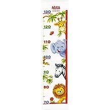 Vervaco Kit de punto de cruz para hacer medidor de altura, diseño de animales del zoo, multicolor