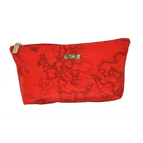 Pochette donna in raso rosso
