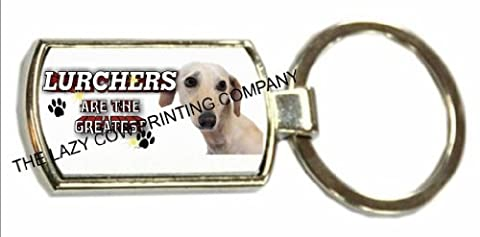 Lurcher (Smooth Hair) DOG CHROME KEYRING ATG 165