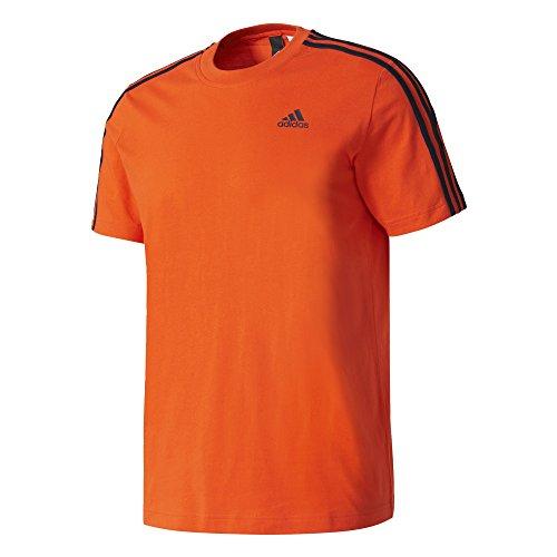 adidas Herren Essentials 3-Streifen T-Shirt, Energy, 2XL (Italienische Baumwolle Streifen)