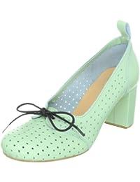 Swedish Hasbeens Margot 012 - Zapatos de vestir de cuero para mujer