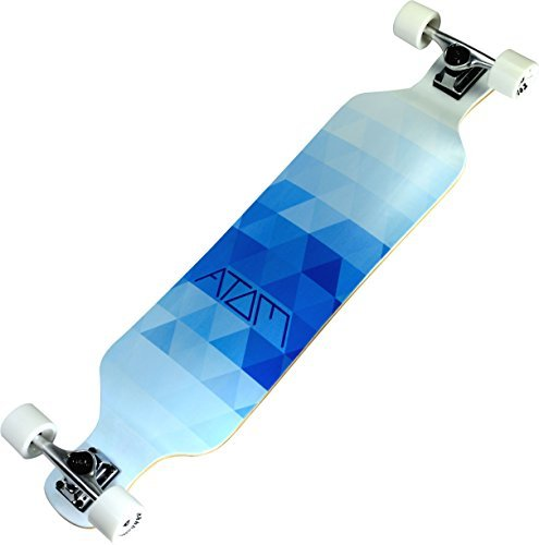 Atom Longboards Atom Drop Deck Longboard - 39 , Blue Triangles by Atom Longboards
