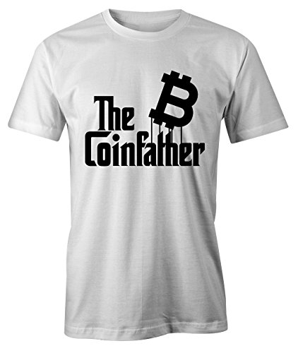 RiotBunny The Coinfather Bitcoin Cryptocurrency BTC Ltc Digital Currency T-Shirt Camiseta Hombres Blanco Medium