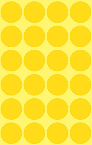 Avery 3007 puntos de etiqueta, diámetro 18 mm, 4 hojas, 96 etiquetas, amarillo