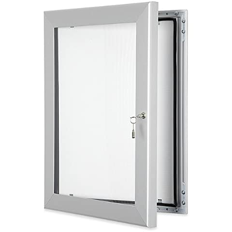Tablón de anuncios con puerta con cerradura, A1(8xA4), sellado impermeable, sin corcho, para uso en interiores o