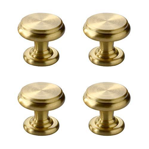 elknöpfe, aus massivem Messing, für Schmuckkästen, Türen, Schubladen, kleiner Griff, Goldfarben ()