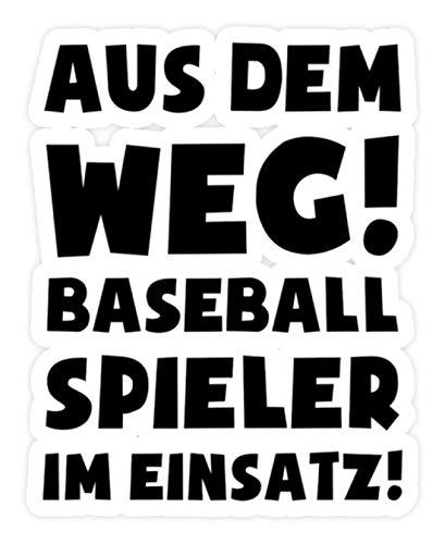 shirt-o-magic Aufkleber Baseball: Baseballspieler im Einsatz! - Sticker -Einheitsgröße-Weiß