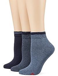 Mustang Socks, Calcetines Cortos para Mujer (Pack de 3)