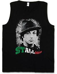 STALLION CAMISETA SIN MANGAS - Sylvester Rocky Boxer Boxing Italian Stallone Balboa Movie Tamaños S – 5XL