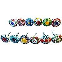 Tiradores de cerámica, 12unidades, vintage, distintos diseños