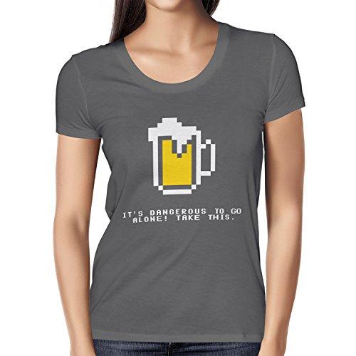 TEXLAB - Dangerous Beer - Damen T-Shirt Grau