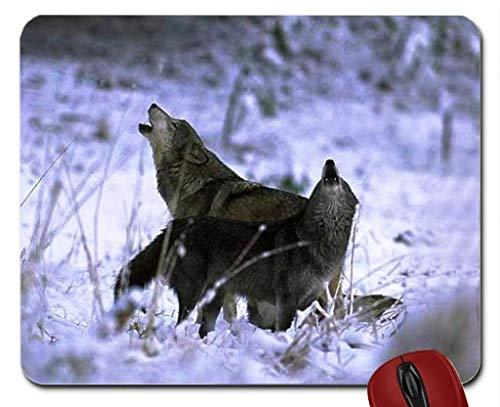 Mausunterlage Zwei heulendes Wolfs Mousepad