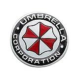 Yukio Baumarkt - 3D Aluminiumlegierung Auto Aufkleber Resident Evil Schutzschirm Aufkleber Auto Body Deko (rund mit Buchstaben)