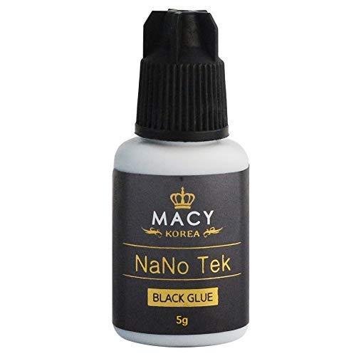 MACY WIMPERNKLEBER Nanotek (Für Wimpernverlängerung) Extension Glue (5ML, Farbe: SCHWARZ) Original, Lash-Kleber