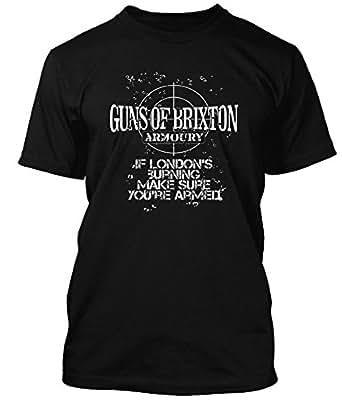Clash Guns of Brixton Armoury Clash T-shirt, Herren, 3X Large, Schwarz